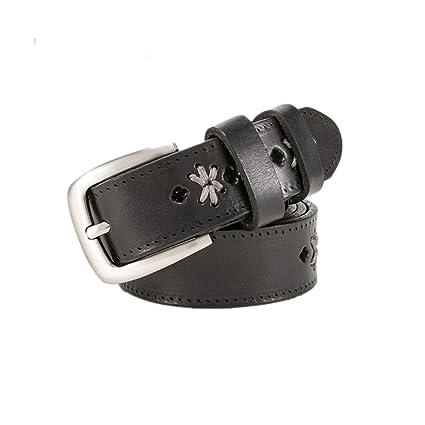 Moda Cinturon Mujer Cinturón de cuero bordado de las mujeres Correa de  cintura delgada ajustable para a3ca5ee33c7d