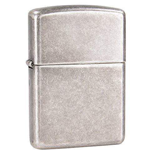 Armor Antique Silver Plate Zippo Outdoor Indoor Windproof Lighter Free Custom Personalized Engraved Message Permanent Lifetime Engraving on Backside by Zippo