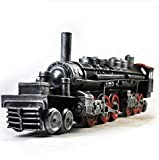 GL&G Retro Iron art train model metal Crafts Photography props Home bar Cafe decoration Tabletop Scenes Ornaments Collectible Vehicles High-end gift,6310.517.3cm