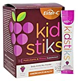 Ester-C Kidsticks Groovy Grape American Health Products 30 Packets Box by American Health Products