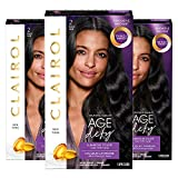 Clairol Age Defy Permanent Hair Color, 2 Black, 3 Count