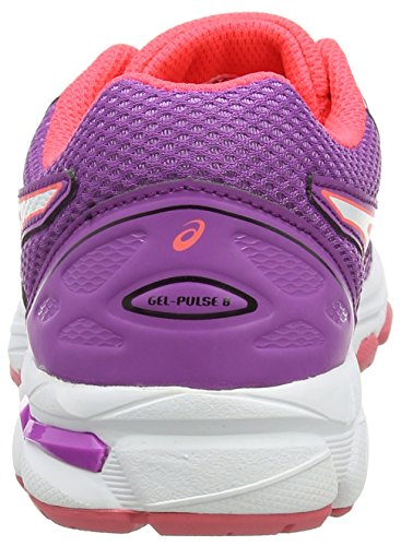 Asics Unisex-Kinder Gel-Pulse 8 GS Turnschuhe, Violett Pink (Orchid/white/diva Pink)