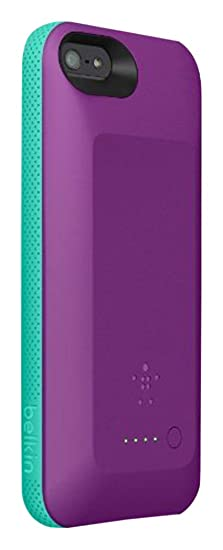 info for f11f9 7511b iPhone 5 Battery Case Belkin Grip Power 2000mAh Rechargeable Battery  Charger Case for iPhone 5/5S (Purple)