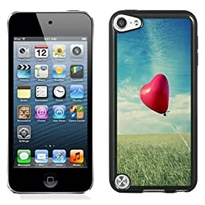 NEW Unique Custom Designed iPod Touch 5 Phone Case With Heart Shaped Air Balloon_Black Phone Case