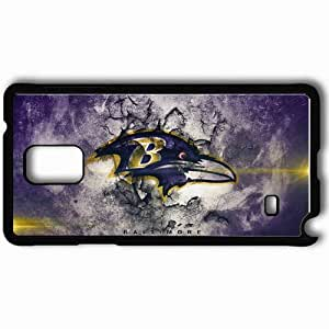 Personalized Samsung Note 4 Cell phone Case/Cover Skin 1271 baltimore ravens Black