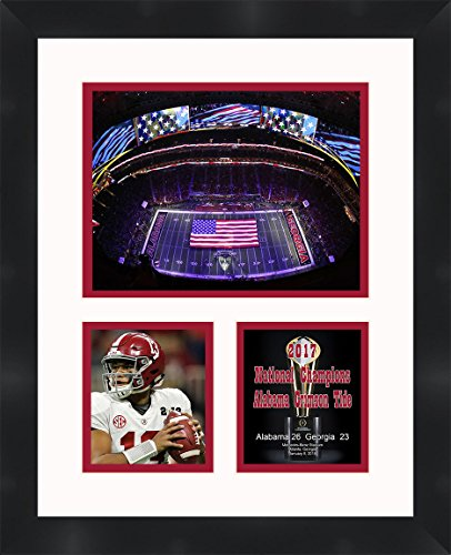 Frames by Mail Tua Tagovailoa - Alabama Crimson Tide - 2017 National Champions - 2018 Nation Championship Game - Framed 11 x 14 Matted Collage Photos