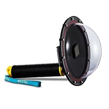 TELESIN dome-port, funda impermeable 6 pulgadas con flotador mango compatible con GoPro Hero 3/4 gpt03: Amazon.es: Deportes y aire libre