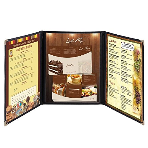 NEW Lot of 30 Menu Covers for Restaurant Cafe - 8.5''X11'' - 3 Pages - 6 Views by Generic (Image #4)