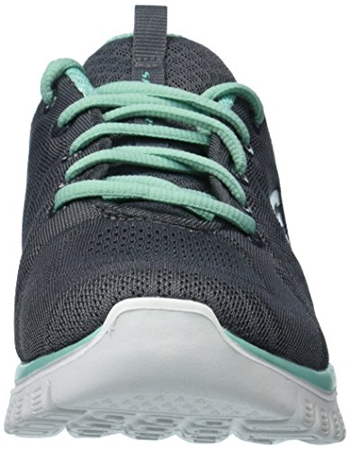Skechers Graceful Connected Charcoal Sport Green Women's Trim Get qqTPBxvwr