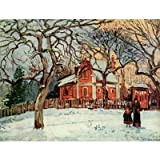 Camille Pissarro (Chestnut Trees in Louveciennes) Art Poster Print