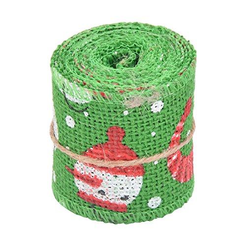 Snowman Sewing - uxcell Burlap Snowman Print Birthday Christmas DIY Sewing Notebook Decoration Ribbon Roll 2.2 Yards