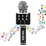 Mockins WS858 Wireless Portable Handheld Bluetooth KARAOKE MICROPHONE Compatible with Android & IOS Apple - Black