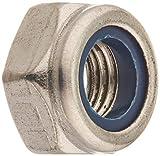 DealMux a16033100ux0273 LOCK Nuts M10X1.25Mm 304 Stainless steel Self-Locking Hex LOCK Stop Nut Silver Tone 4Pcs