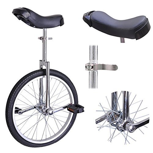 20 inch Wheel Unicycle Chrome