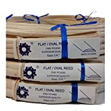 """1 Pound Coil of Flat Oval Reed, Natural Color, Any Width, 1/4"""" 3/8"""" 1/2"""" (1/2"""")"""