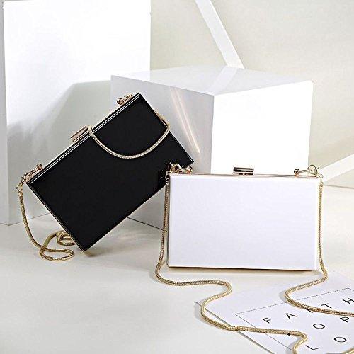 Acrylic New Black Evening Bag Handbag Bag Bag Diagonal Shoulder Bag Chain Clutch WenL Fashion q5dOEqxw