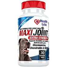 The Health Labs - Glucosamine and Chondroitin Chewables for Dogs Hip and Joint Health - 30 Tablets
