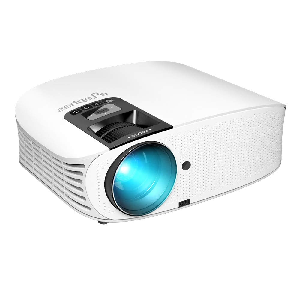 Projector, ELEPHAS 4000 L LED Home Theater Projector with 200'', Support 1080P HD HDMI VGA AV USB Micro SD Video Projector