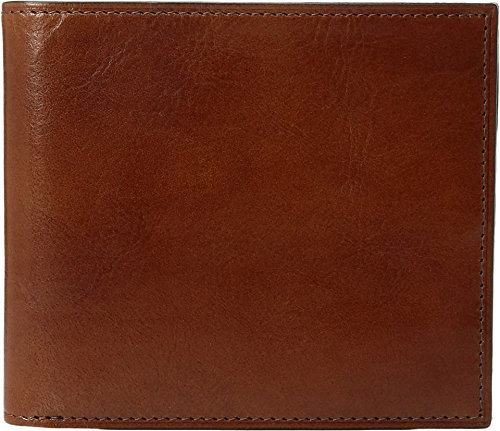 Bosca Mens Old Leather - Bosca Men's Old Leather Collection - Eight-Pocket Deluxe Executive Wallet w/Passcase (Amber)