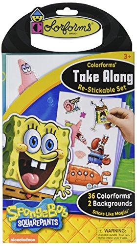 Colorforms Brand Spongebob Squarepants Take Along Restickable Set (Scene Kit Spongebob)