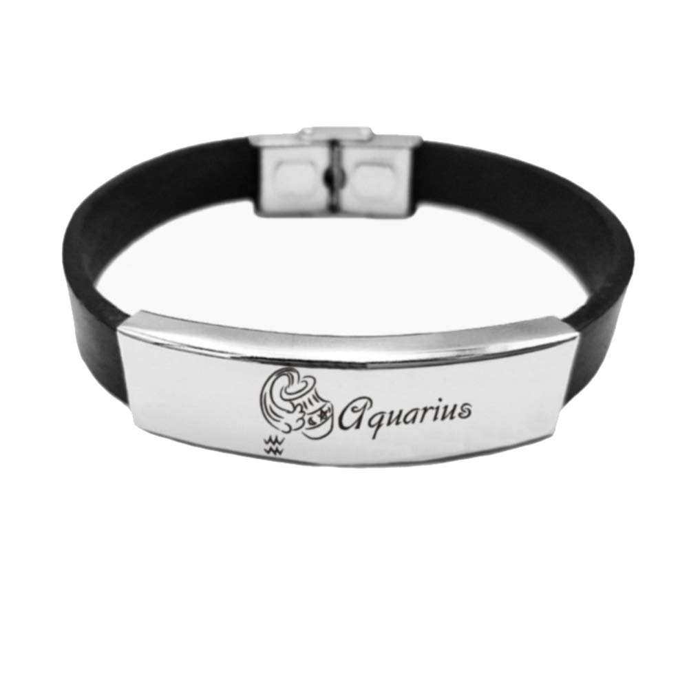 Weimay Constellation Bracelet Aquarius Hand Jewelry Fashion Stainless Steel 1 Pcs