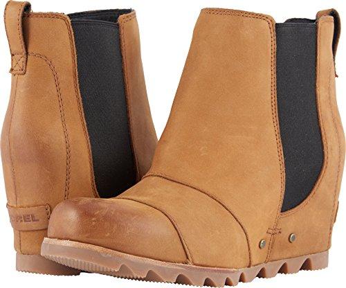 SOREL Womens Lea Wedge Boot, Camel Brown, 8 B(M) US by SOREL