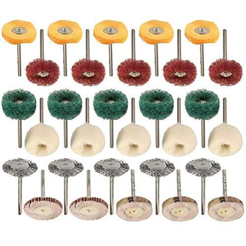 Honana ロータリーツールのための工業用研磨剤30個の研磨ホイールバフ研磨パッドブラシセット 研磨工具