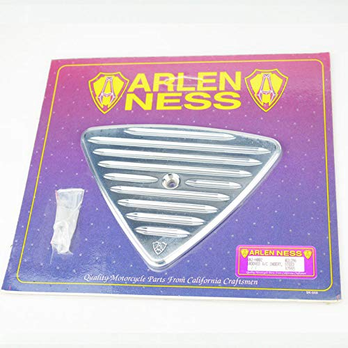 【ARLEN NESS】スティード400/600専用 アレンネス グルーブドエアクリーナーインサート メッキ エアクリーナーカバー NOS スリット   B07L2T4QR8