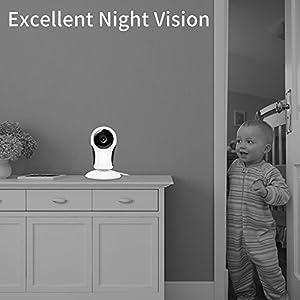 1080P Security Camera,ANBAHOME WiFi Camera Wireless IP Cam for Home Surveillance Pet and Baby Monitor with Night Vision Two Way Audio Support 128G SD Card by Shen Zhen Shi Yi Fang Kong Jian Wen Hua Fa Zhan You Xian Gong Si