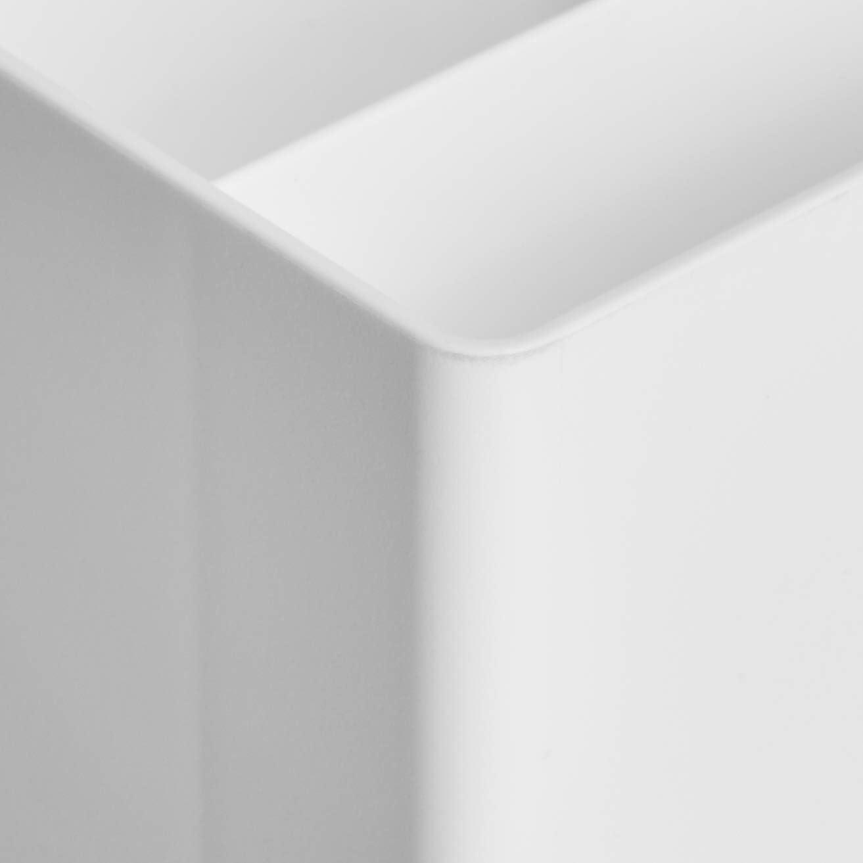 vaschetta e mezza vaschetta portaoggetti Set di vassoio piccolo Basics Plastic Organizer colore: bianco
