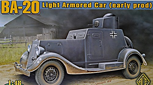 - PLASTIC MODEL BUILDING KIT BA-20 LIGHT ARMORED CAR, EARLY PROD. 1/48 ACE 48108