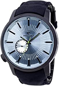 Rip Curl Detroit Midnight A2297 - Reloj de caballero de cuarzo, correa de piel color negro