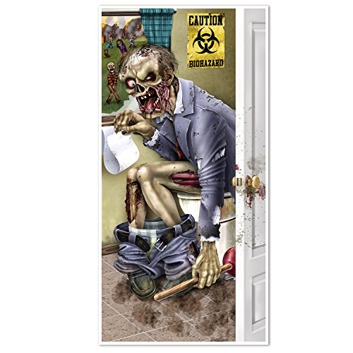 Beistle 00146 Zombie Restroom Door Cover, 30