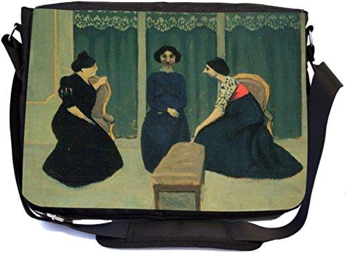 Rikki Knight Felix Vallotton Art Gossip Design Messenger Schule Tasche (mbcp-cond3051)