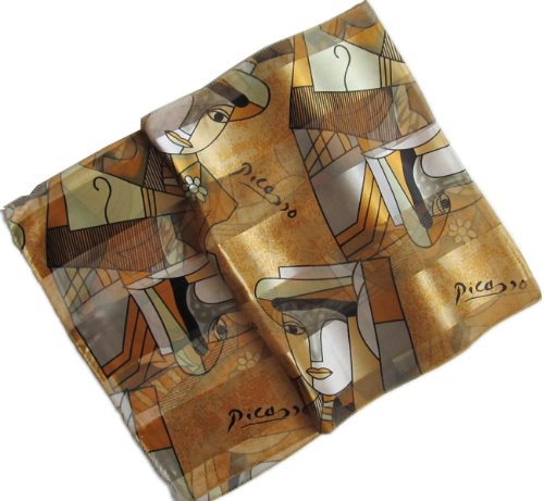 Abstract Picasso Print Oblong Scarf /Sash Belt / Headband (Gold) (Scarf Headband Belt)