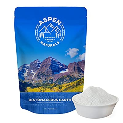 Food Grade Diatomaceous Earth Powder - 3 Lb. Aspen Naturals Brand. For Human and Pet Use. Amazingly Effective Multipurpose Powder for Internal and External Organic Use or With Dusters.