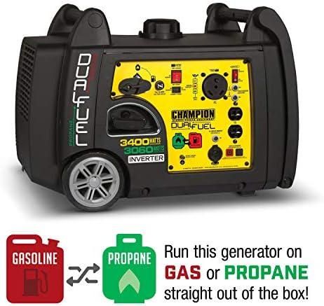 Champion 3400-Watt Dual Fuel RV Ready Portable Inverter Generator with Electric Start 51tjzlLiJ1L
