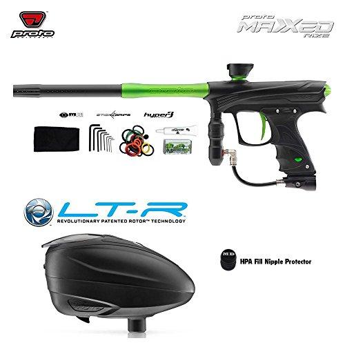 Dye Proto Rize MaXXed Paintball Gun & LT-R Paintball Loader Combo Package - Black/Lime