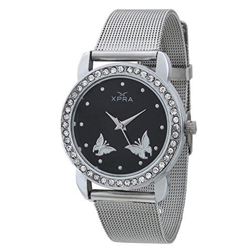 XPRA Analog Black Dial Women's Watch-BK-2BF-CH