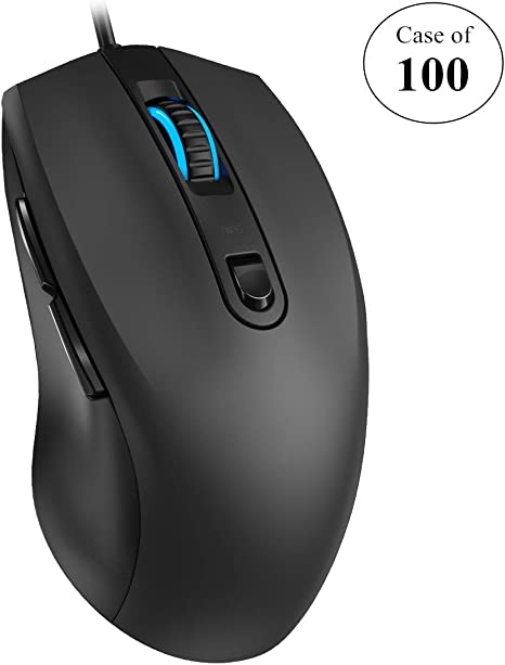 Laptop Desktop Ergonomic Plug-and-Play Mice with 3200 DPI 7-Color Breathing LED Light 6 Buttons for PC Backlit USB Computer Mouse Criacr Wired Optical Mouse 4 Adjustable Levels