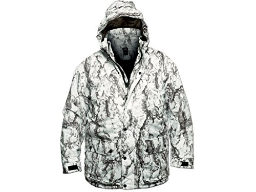 Hunting Snow Camo (Natural Gear Snow Camo Insulated Parka, Windproof Full-Zip Parka Jacket for Men, Snow Camouflage Pattern Hunting Jacket (Medium))