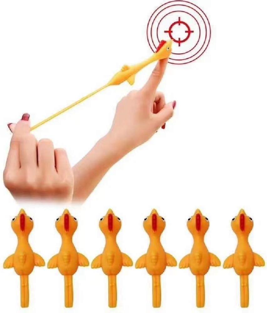 CZSMART Lance-doigt adh/ésive en caoutchouc en forme de poulet Jouet de d/écompression 10 pi/èces Jouet pour les doigts