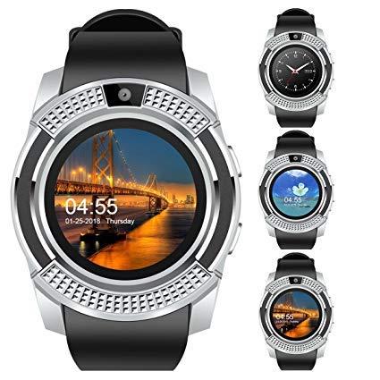 8ec7a29cfe0 Relógio Smartwatch V8 Celular Inteligente Bluetooth Gear Chip Android iOS  Touch Faz e atende ligações SMS