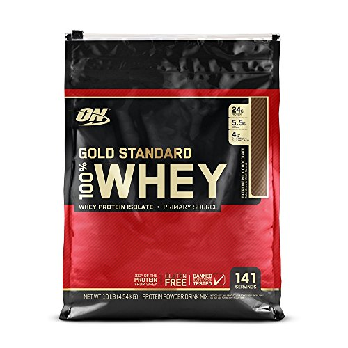 Optimum Nutrition Gold Standard 100% Whey Protein Powder, Extreme Milk Chocolate, 10 Pound by Optimum Nutrition