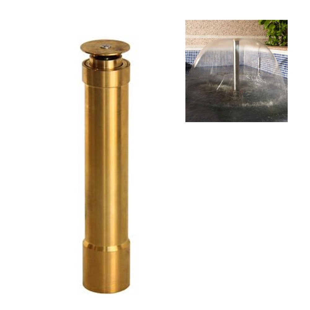 NAVAdeal 1'' DN25 Brass Extended Bell Water Fountain Nozzle Spray Pond Sprinkler Head