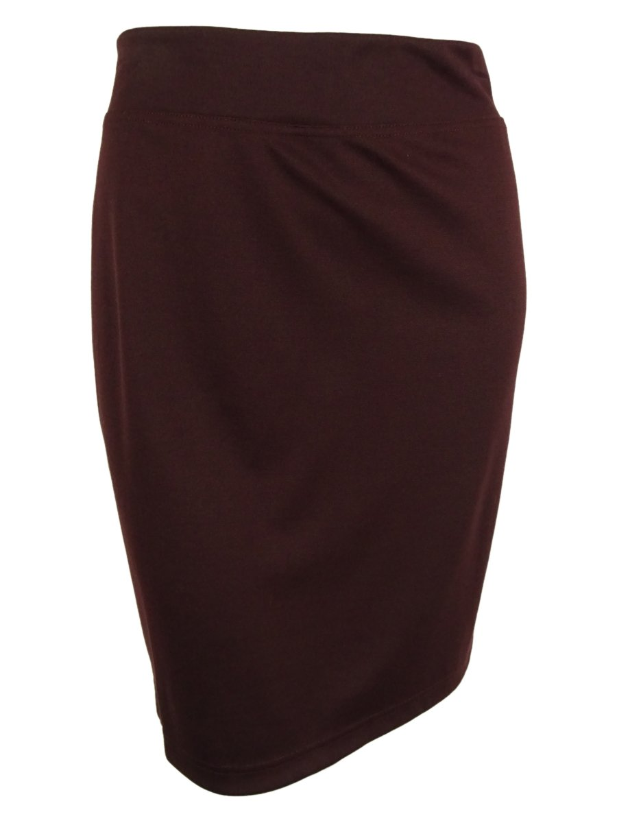 Style & Co. Womens Plus Pull On Below Knee Pencil Skirt Purple 3X