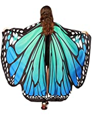 Chal de Alas de Mariposa Duendecillo para Mujer Capa de Muchacha Accesorio para Disfraz Playa Fiesta