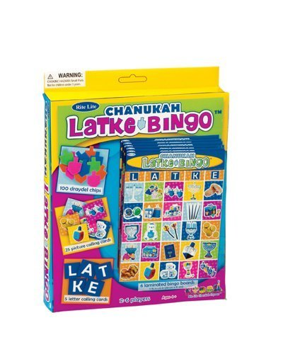 Rite-Lite Judaica Chanukah Latke Bingo Game for 6. Ages 4 and up! by Rite Lite LTD by Rite Lite