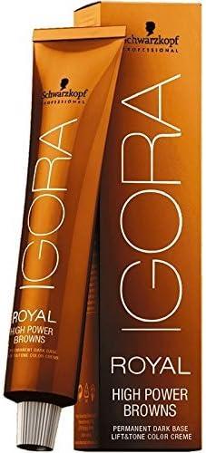 SCHWARZKOPF Tinte permanente para el cabello IGORA Royal High Power BROWNS 60ml - B-8