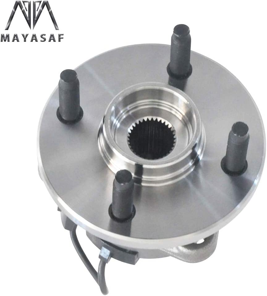 05-06 Pursuit 03-07 Ion-2//Ion-3 07-09 Pontiac G5 MAYASAF 513204x2 Front Wheel Hub and Bearing Assembly 4 Lug w//ABS Fit for 05-10 Chevrolet Cobalt 2 PCS 03-05 Saturn Ion-1